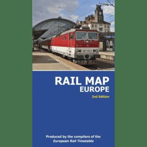 Rail Map of Europe (Folded)