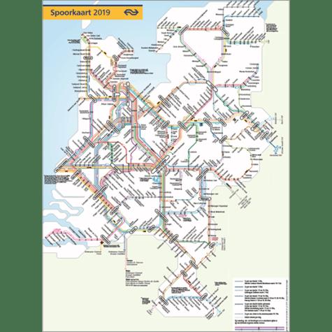 Poster Spoorkaart 2019 (Koker) Treinwebshop